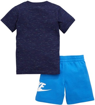 Nike Sportswear Younger Boys French Terry Tee and Shorts Set - Blue