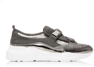 Moda In Pelle Brynna Pewter Metallic Leather
