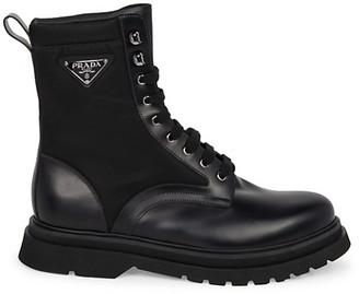 Prada Millerighe Combat Boots