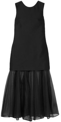Maggie Marilyn Open-back Layered Organza And Crepe Midi Dress