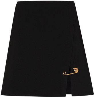 Versace safety-pin A-line mini skirt