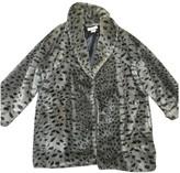Sonia Rykiel Anthracite Faux fur Coat for Women Vintage