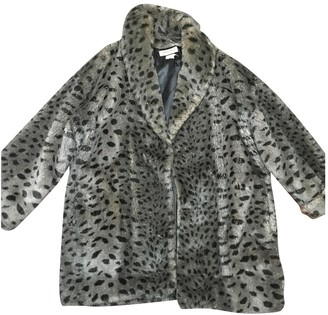 Sonia Rykiel Anthracite Faux fur Coat for Women Vintage