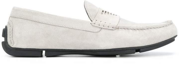 Emporio Armani logo loafers