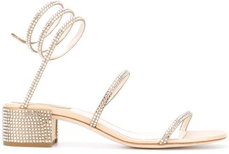 Rene Caovilla Studded Rhinestone Sandals