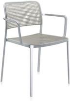 Kartell Audrey Shiny Armchair - Aluminium/Light Grey