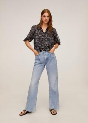 MANGO Floral print blouse black - 2 - Women