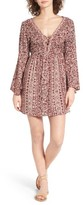 Angie Women's Lace-Up Bell Sleeve Dress
