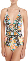 Nanette Lepore Copa Cubana One-Piece Swimsuit, Multi Pattern