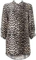 Stone Leopard Print Shirt