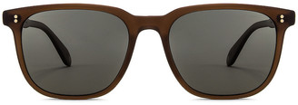 Garrett Leight Emperor 52 in Matte Espresso & Green Grey Polar | FWRD