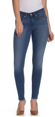 William Rast Perfect Mid Rise Fray Hem Skinny Jeans