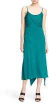 Tracy Reese Asymmetrical Midi Slip Dress