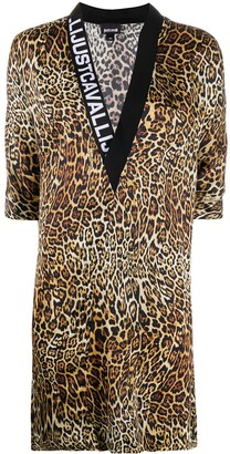 Just Cavalli Dancing Leo Print dress