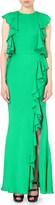 Alexander McQueen Ruffled crepe gown