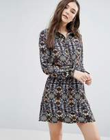 Lavand Kaleidoscope Print Shirt Dress