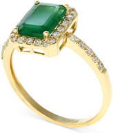 Effy Brasilica by Emerald (1-3/8 ct. t.w.) and Diamond (1/4 ct. t.w.) Ring in 14k Gold, Created for Macy's