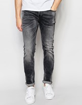 ONLY & SONS Washed Black Slim Fit Jeans