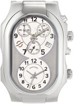 Philip Stein Teslar Large Signature Dual Time Zone Watch Head, Silver/Gray