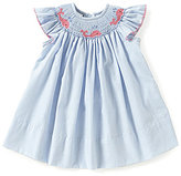 Edgehill Collection Baby Girls 3-9 Months Whale Embroidered Smocked Gingham Dress