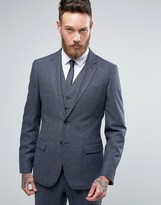 Reiss Slim Suit Jacket In Salt N Pepper