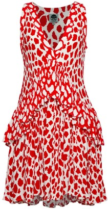State Of Georgia The Rara Dress In Red Giraffe