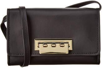 Zac Posen Eartha Iconic Small Leather Phone Wallet Crossbody