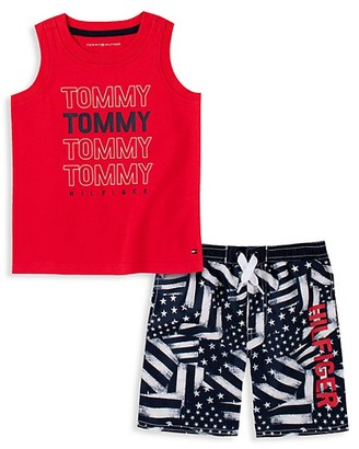Tommy Hilfiger Baby Boy's 2-Piece Logo Tank Top Shorts Set
