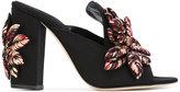 Sanayi 313 - heeled mules - women - Raffia/Polyester/Leather - 36