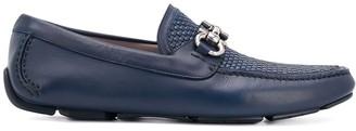 Salvatore Ferragamo Gancini Horsebit woven loafers