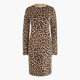 J.Crew Leopard sweater-dress