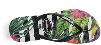 Havaianas Slim Tropical Floral Flip Flops