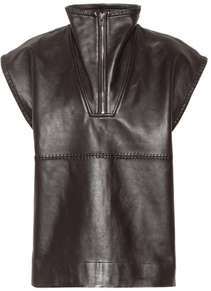 Ganni Sleeveless leather vest