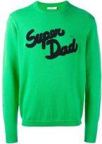Sun 68 Super Dad patch sweater