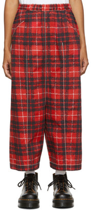 Comme des Garcons Red Tartan Trousers