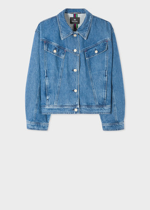 Paul Smith Women's Blue Crop Denim Jacket