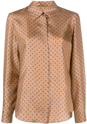 Alberto Biani Silk Long Sleeve Shirt