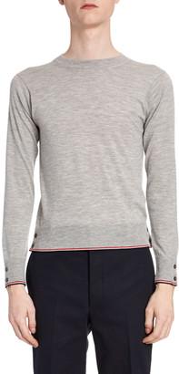 Thom Browne Men's Heathered Cashmere Crewneck Sweater