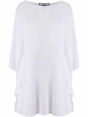 Fisico Cristina Ferrari White Sheer Tunic Top