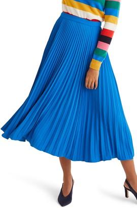 Boden Kristen Pleated Midi Skirt