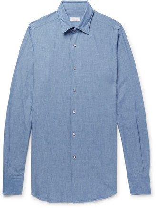 Incotex Slim-Fit Cotton-Chambray Shirt