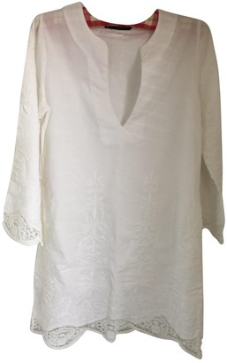 Vix Paula Hermanny White Cotton Top for Women