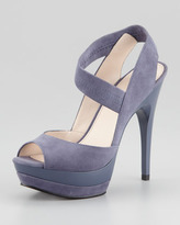 Pelle Moda Joya Suede Platform Sandal