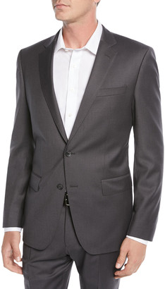 HUGO BOSS Men's Stretch-Wool Basic Two-Piece Suit, Gray