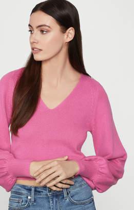 BCBGMAXAZRIA Puff Sleeve Merino Sweater