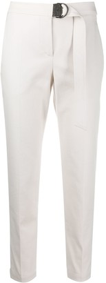 Brunello Cucinelli Embellished Belt Tapered Trousers