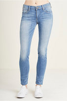 True Religion Boundless 360 Stretch Halle Mid Rise Super Skinny Womens Jean