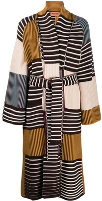 Missoni Panelled Ribbed Knit Cardigan-Coat