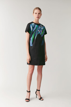 Cos Printed Dress With Lining