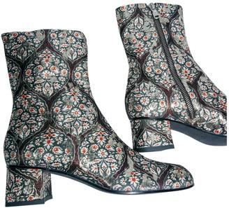 Suno Multicolour Cloth Ankle boots